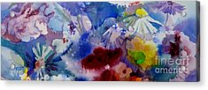 Impression Of  Flowers Acrylic Print by Donna Acheson-Juillet
