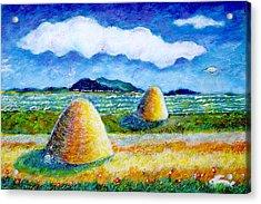 Impressionist Landscape With Ufo Acrylic Print