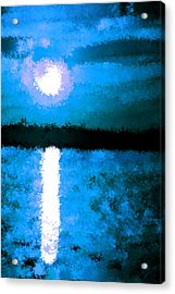 Impressionist Moonlight Acrylic Print by Bruce Nutting