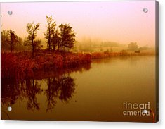 Acrylic Print featuring the photograph Impressionist Reflection by Julie Lueders