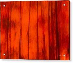 Impressionistic Autumn 4 Acrylic Print by Leland D Howard