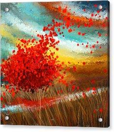 Impressionistic Beauty- Autumn Impressionist Acrylic Print by Lourry Legarde