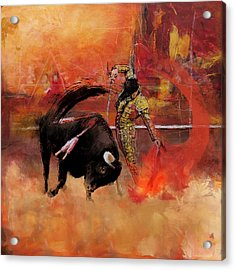 Impressionistic Bullfighting Acrylic Print by Corporate Art Task Force