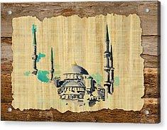 Impressionistic Masjid E Nabwi Acrylic Print