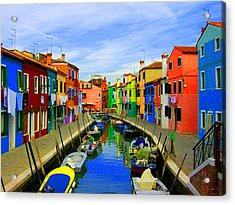 Impressionistic Photo Paint Gs 013 Acrylic Print by Catf