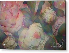 Acrylic Print featuring the photograph Impressionistic Spring Bouquet by Dora Sofia Caputo Photographic Art and Design