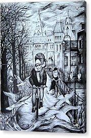 Impressions Of Amsterdam Acrylic Print by Anna  Duyunova