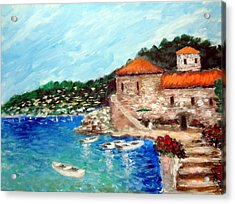 Impressions Of The Mediterranean Acrylic Print by Larry Cirigliano