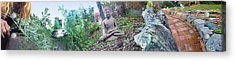 In A Buddha Garden Of Surreal Dreams Acrylic Print by Wernher Krutein