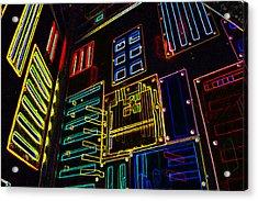 In A Neon-box Acrylic Print