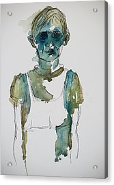 In A Trance Acrylic Print by Tina Pitsiavas
