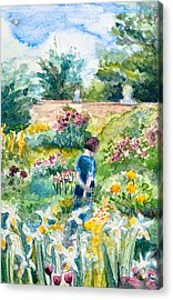 In An English Cottage Garden Acrylic Print