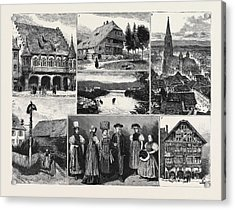 In And About The Black Forest 1. The Merchants Hall Acrylic Print by English School
