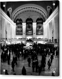 In Awe At Grand Central Acrylic Print