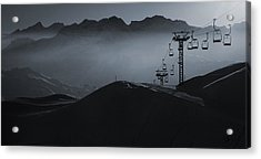 Acrylic Print featuring the photograph In Blue #2 by Antonio Jorge Nunes