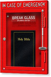 In Case Of Emergency Acrylic Print