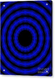 In Circles- Blue Version Acrylic Print by Roz Abellera Art