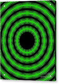 In Circles-green Version Acrylic Print by Roz Abellera Art