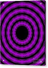In Circles-purple Version Acrylic Print by Roz Abellera Art