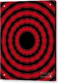 In Circles- Red Version Acrylic Print by Roz Abellera Art
