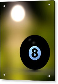 In Front Of The Eight Ball Acrylic Print by Bob Orsillo