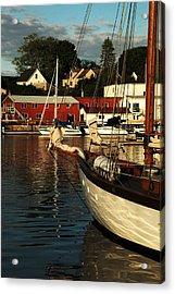 In Harbor Acrylic Print by Karol Livote