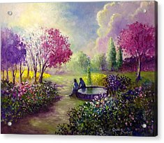 In Heaven Everything Is Fine Acrylic Print by Randy Burns