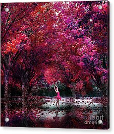 In Her Dreamworld Acrylic Print by Jacky Gerritsen