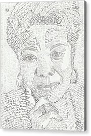 In Her Own Words Maya Angelou Acrylic Print