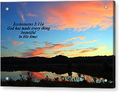 In His Time Acrylic Print