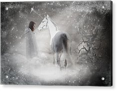 In Honor Of The Unicorn Acrylic Print