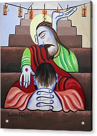 In Jesus Name Acrylic Print by Anthony Falbo
