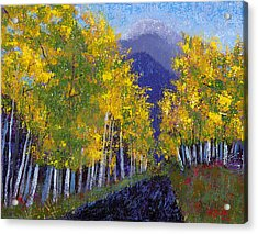 Acrylic Print featuring the painting In Love With Fall River Road by Margaret Bobb