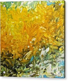 Acrylic Print featuring the painting In My Magic Garden by Joan Reese