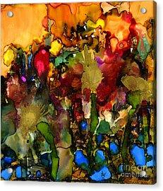 In My Sister's Garden Acrylic Print by Angela L Walker