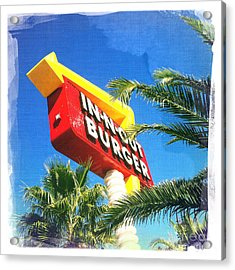In-n-out Burger Acrylic Print by Nina Prommer