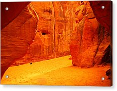In Orange Chasms Acrylic Print by Jeff Swan
