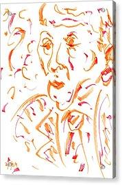 In Orange Acrylic Print
