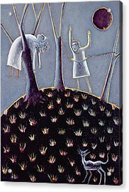 In Praise Of Expectation, 1991 Oil On Canvas Acrylic Print by Celia Washington
