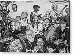 In Praise Of Jazz V Acrylic Print by Steve Harrington