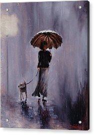 In Rain Or Shine Acrylic Print by Laura Lee Zanghetti