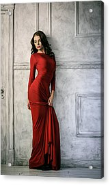 In Red Acrylic Print