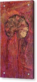 In Remembrance Of The Bloom Acrylic Print by Sandra Gail Teichmann-Hillesheim