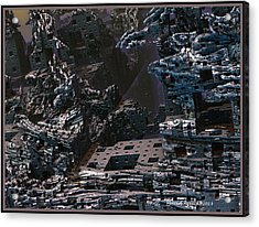 Acrylic Print featuring the digital art In Ruins by Melissa Messick