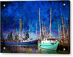 In Safe Harbor Acrylic Print by Barry Jones