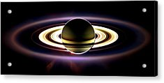 In Saturn's Shadow Acrylic Print by Benjamin Yeager