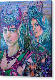 Acrylic Print featuring the painting In Silvermoon City by Suzanne Silvir