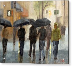 In Spite Of Rain Acrylic Print