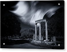 Acrylic Print featuring the photograph In The Altis Of Olympia by Micah Goff