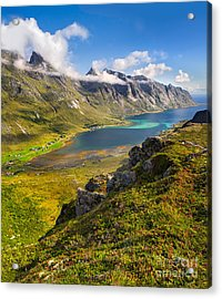Acrylic Print featuring the photograph In The Arctic Circle by Maciej Markiewicz